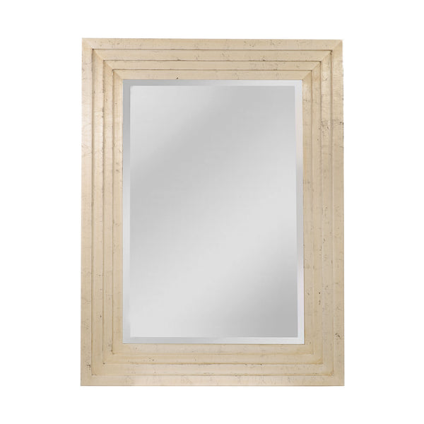 "Silver and Ebony ""Pitney"" Transitional Mirror"