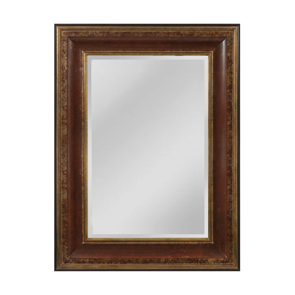 "Aged Walnut and Roman Gold ""O'Reiley"" Transitional Mirror"