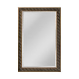 "Light Antique Silver and Gold and Black ""Clearfield"" Transitional Mirror"