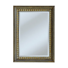 "Silver and Gold ""Parnell"" Traditional Mirror"
