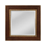 "Walnut and Roman Gold ""Darcey"" Transitional Mirror"