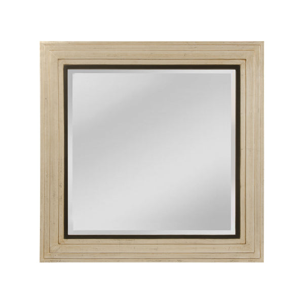 "Silver, Gold and Black ""Sheldon"" Transitional Mirror"