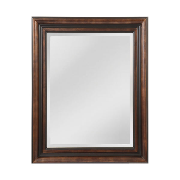 "Walnut and Black ""Gastonia"" Traditional Mirror"