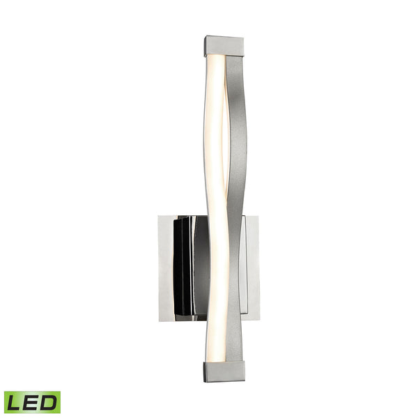 Twist 6 Watt LED Wall Sconce In Aluminum and Chrome
