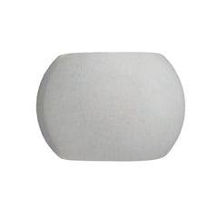 Castle LED Round Wall Sconce Concrete/Shiny White