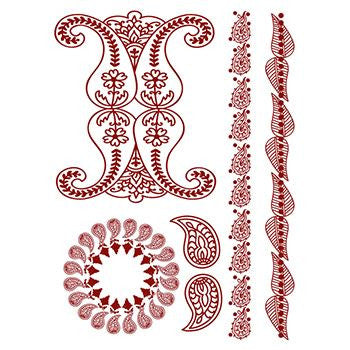 Classic Faux Henna Temporary Simply Red
