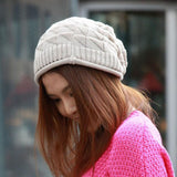 Unisex Boho Slouchy Crochet Hat in four color options