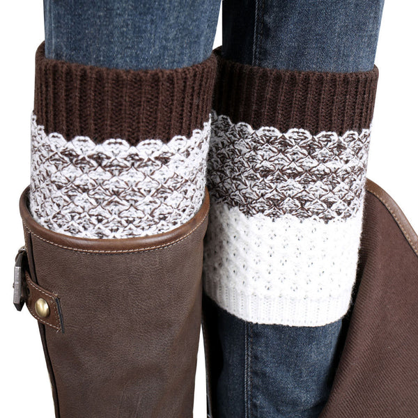 Boot Socks Crochet Leg Warmers in Two color options