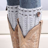 boot Socks with cute detail Crochet Leg Warmers in 3 color options