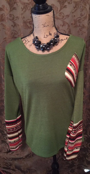 Green Womens Casual Thumb Hole Sleeve Shirt Sweater