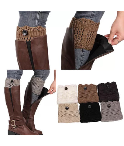 Crochet Boot Socks Leg Warmers in 4 color options