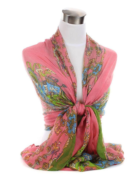 Paisley Floral Print Large Beach Cover-up Wrap Scarf Scarves Sarong Three options