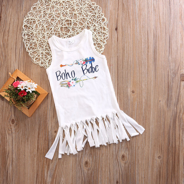 Boho Girls Tunic Boho Babe with fringe