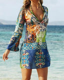 Boho Gypsy Light Chiffon Tunic Shirt or Swim Suit Cover