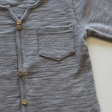 Buttoned Basic Grey