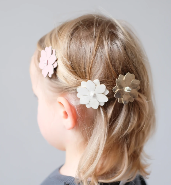Rosy Posy Salon Clips