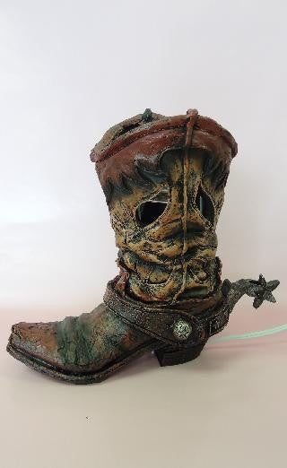 Poly resin cowboy boot