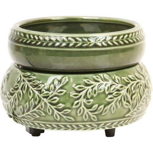 Green Candle Warmer Leaf Design
