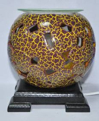 Leopard print pottery oil and tart warmer
