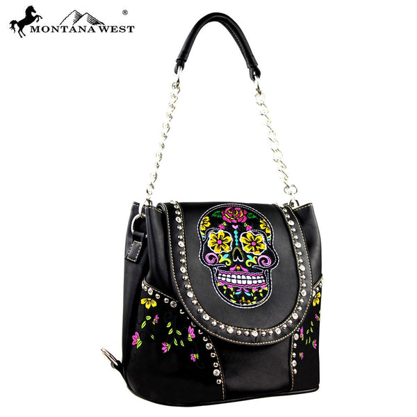 Montana West Sugar Skull Collection Handbag Many Colors