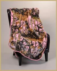 "Pink Camo 40"" x 50"" Baby Mink Throw Style Blanket"