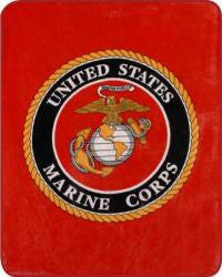 Marines Logo Fleece Blanket 50 x 60