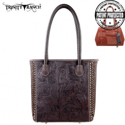 Trinity Ranch Tooled Design Concealed Handgun Collection Handbag Many Colors