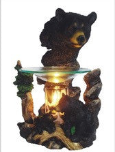 Black Bears Poly Resin Warmer