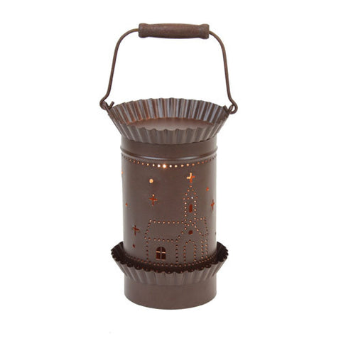 Tin Lantern Style Tart Warmer - Church