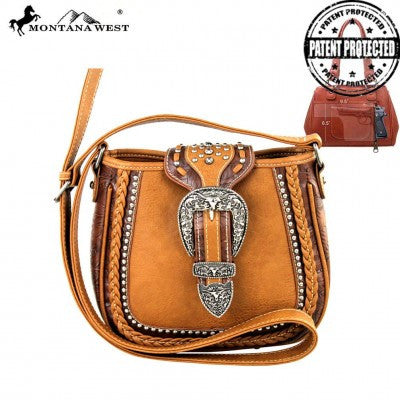 Montana West Buckle Collection Messenger Handbag Many Colors