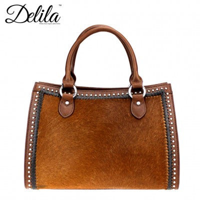 Delila 100% Genuine Leather Hair-On Hide Collection Handbag