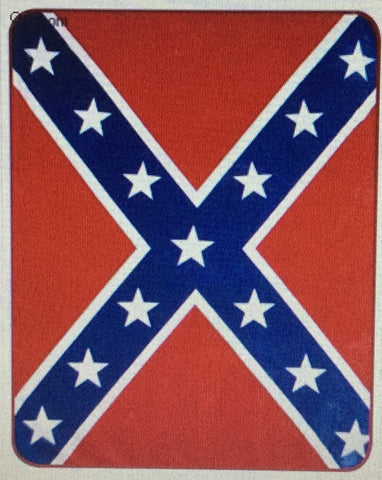 Confederate / Rebel Flag - Heavy Weight Faux FurTM Blanket  79 x 86