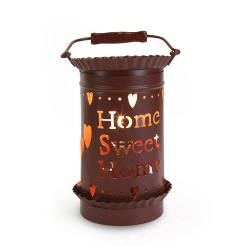 Tin Lantern Style Tart Warmer - Home Sweet Home
