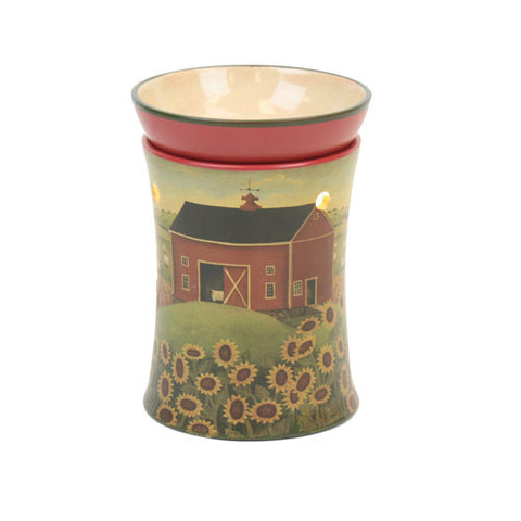 Barn w/Sunflowers Design Tart Warmer