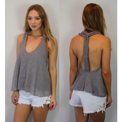 Braid Dream Swing Top (grey)