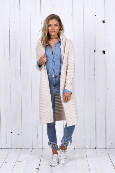 Willow Hooded Cardi (Cream)