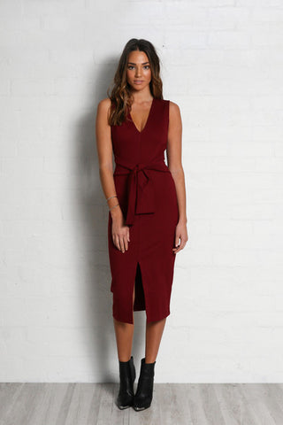 Poppy Tie Front Dress