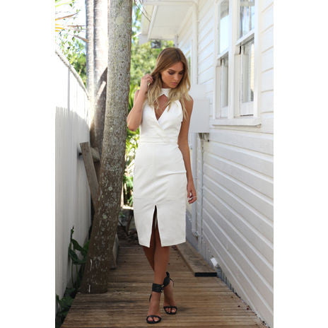 Soiree Dress (White) - Light & Beauty xoxo