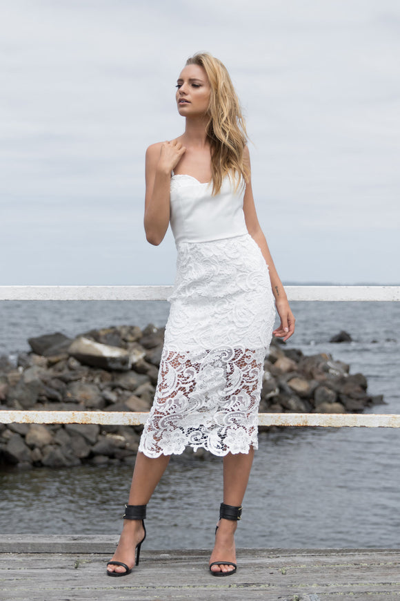 Sheike It Lace Dress (white)