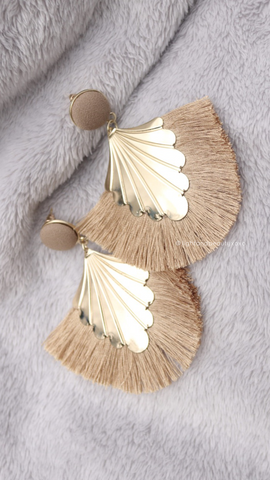 Shell Tassel Earrings (Bronze) - Light & Beauty xoxo