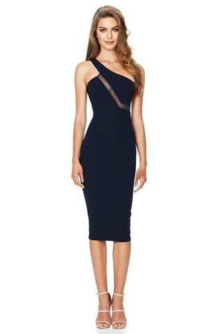 Divine One Shoulder Midi