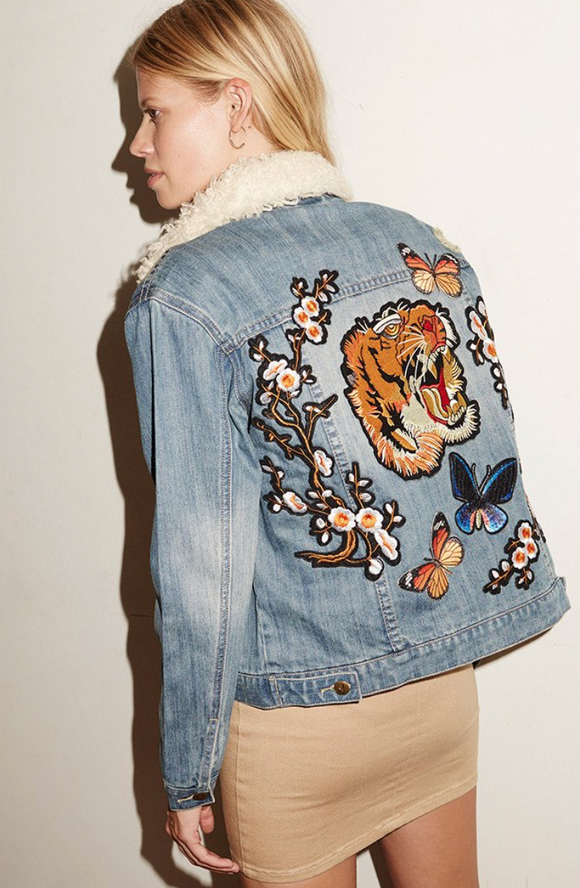 Tiger Love Denim Jacket