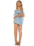 Sweet Sahara Front Tie Playsuit - Light & Beauty xoxo