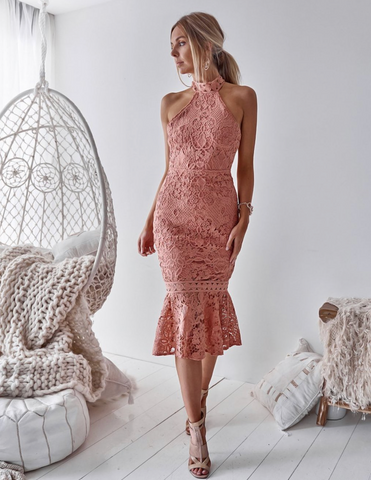 Sonia Lace Midi (Blush) - Light & Beauty xoxo
