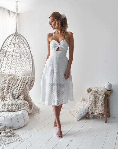 Annaliese Midi - White - Light & Beauty xoxo