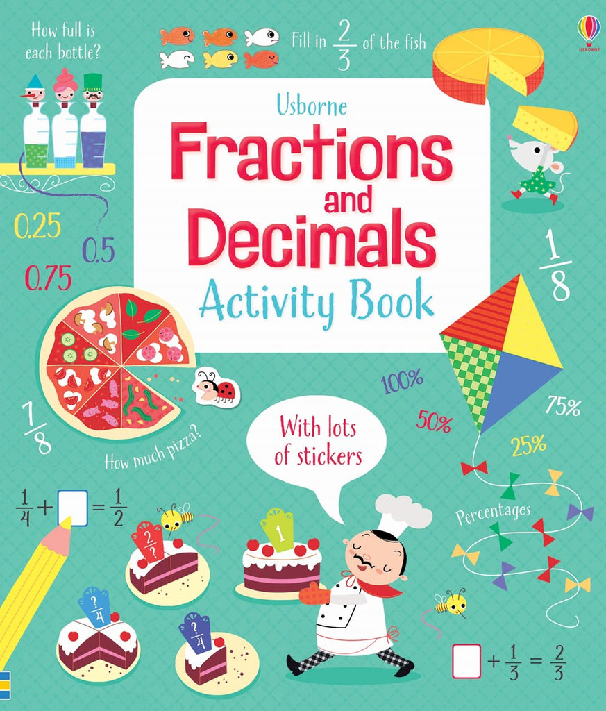 Usborne Fractions and Decimals Activity Book