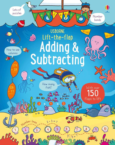 Usborne Lift-the-flap Adding & Subtracting Board Book