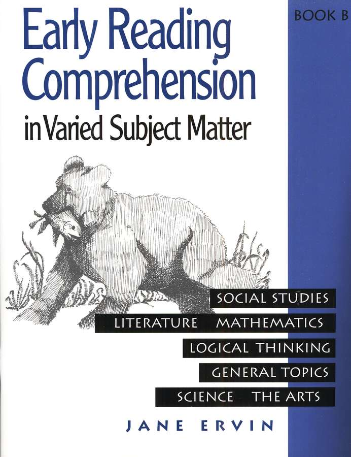 Early Reading Comprehension in Varied Subject Matter Book B and answer key set