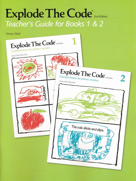Explode the Code 1, 2 and Teacher's Guide bundle (2nd Edition)