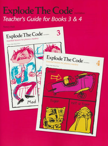 Explode the Code 3, 4 and Teacher's Guide bundle (2nd Edition)